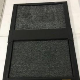 Tapete higienizante duplo grande cinza