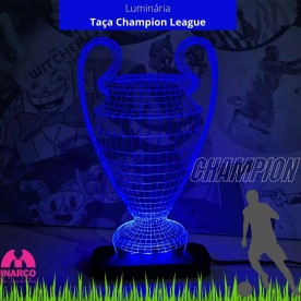 Luminária Taça Taça Champions League 3D