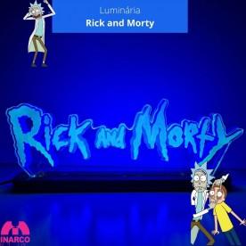 Luminária Rick and Morty