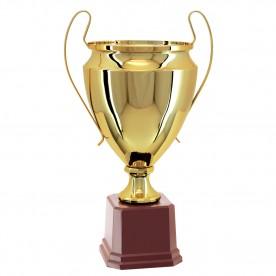 Taça Metal Dourada 57cm